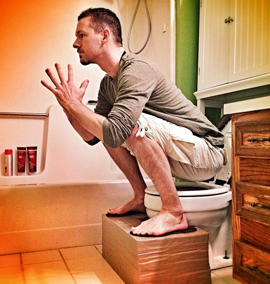 Αυτή είναι κανονικά η σωστή στάση όταν πηγαίνετε τουαλέτα.