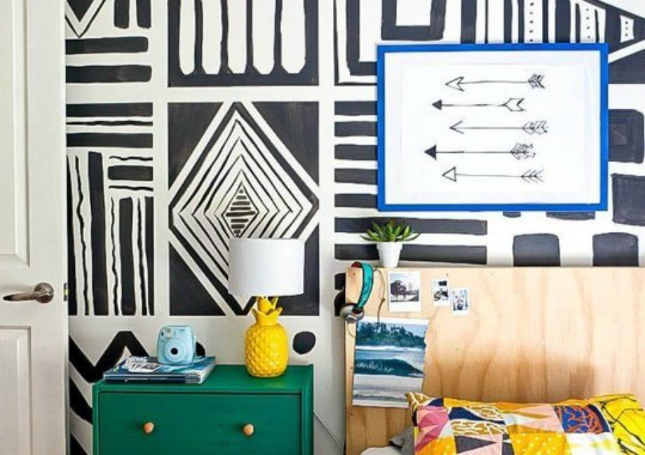 Βρείτε ένα σχέδιο που μπορείτε να κάνετε εύκολα στον τοίχο σας και ξεκινήστε τη δημιουργία