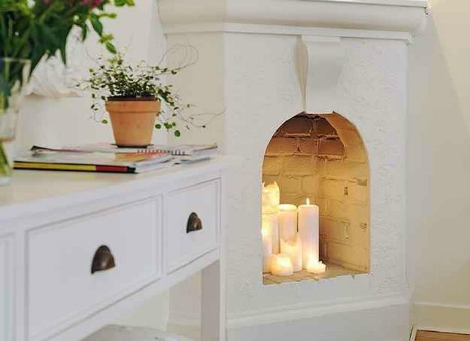 Τα κεριά είναι μια σταθερή και εύκολη επιλογή διακόσμησης.