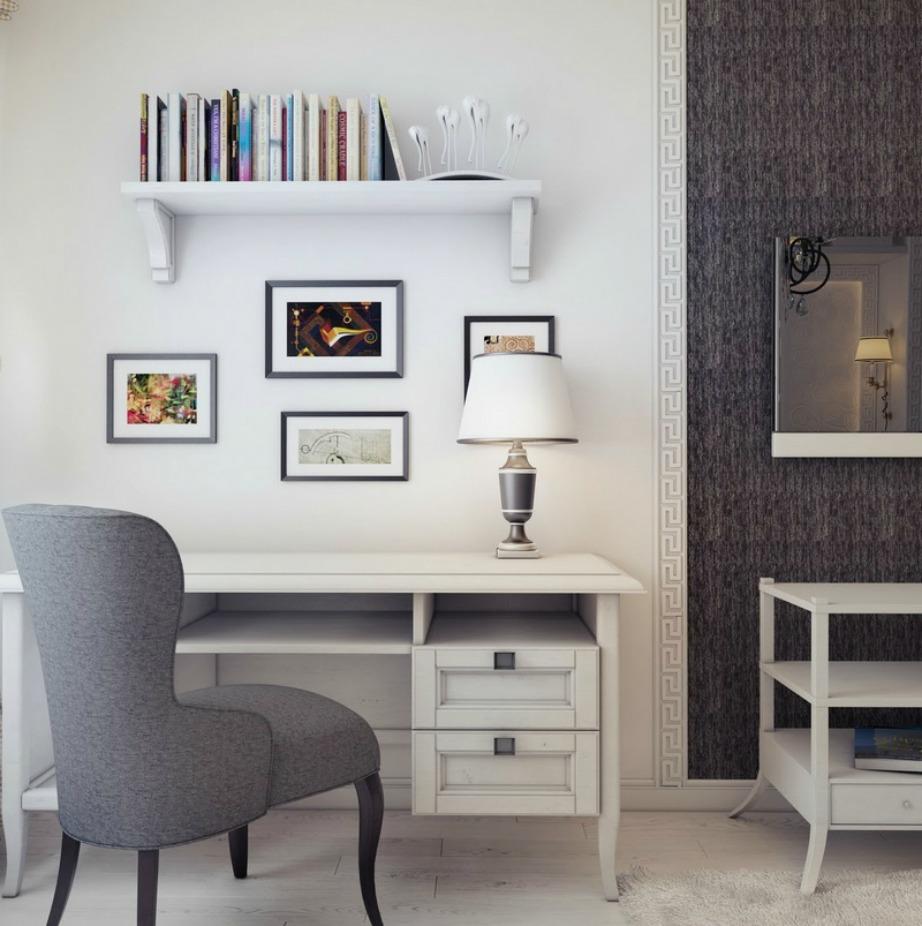 Το απλό λευκό θέλει προσοχή στη διακόσμηση για να μη δείξει κρύο. Αποφύγετε τους άδειους τοίχους όταν τους έχετε βάψει σε καθαρό λευκό χρώμα.