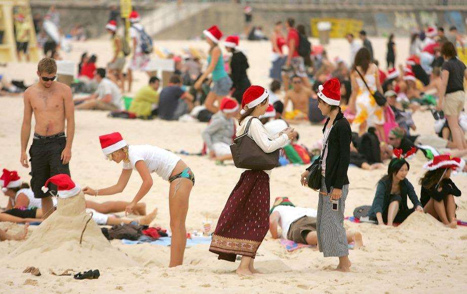 Κάπως έτσι είαι οι παραλίες της Αυστραλίας τις ημέρες των Χριστουγέννων.