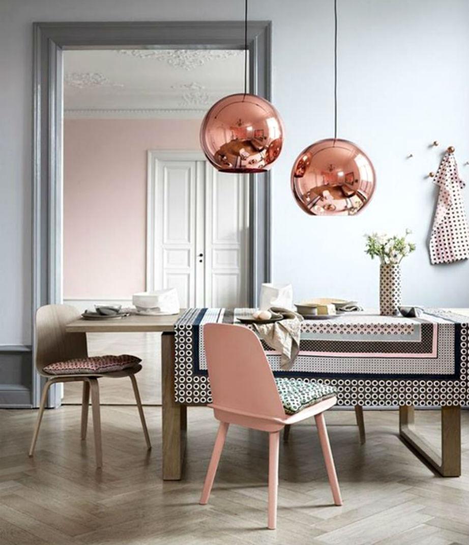 Απαλό ροζ για μια πιο ρομαντική τραπεζαρία!
