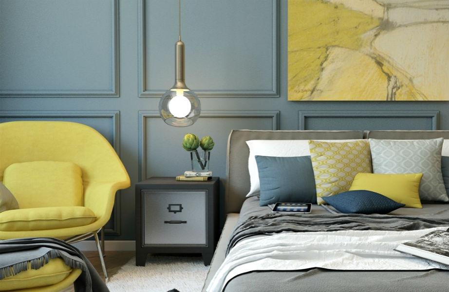 Το κίτρινο θα χαρίσει μια νότα χαράς στο υπνοδωμάτιό σας.