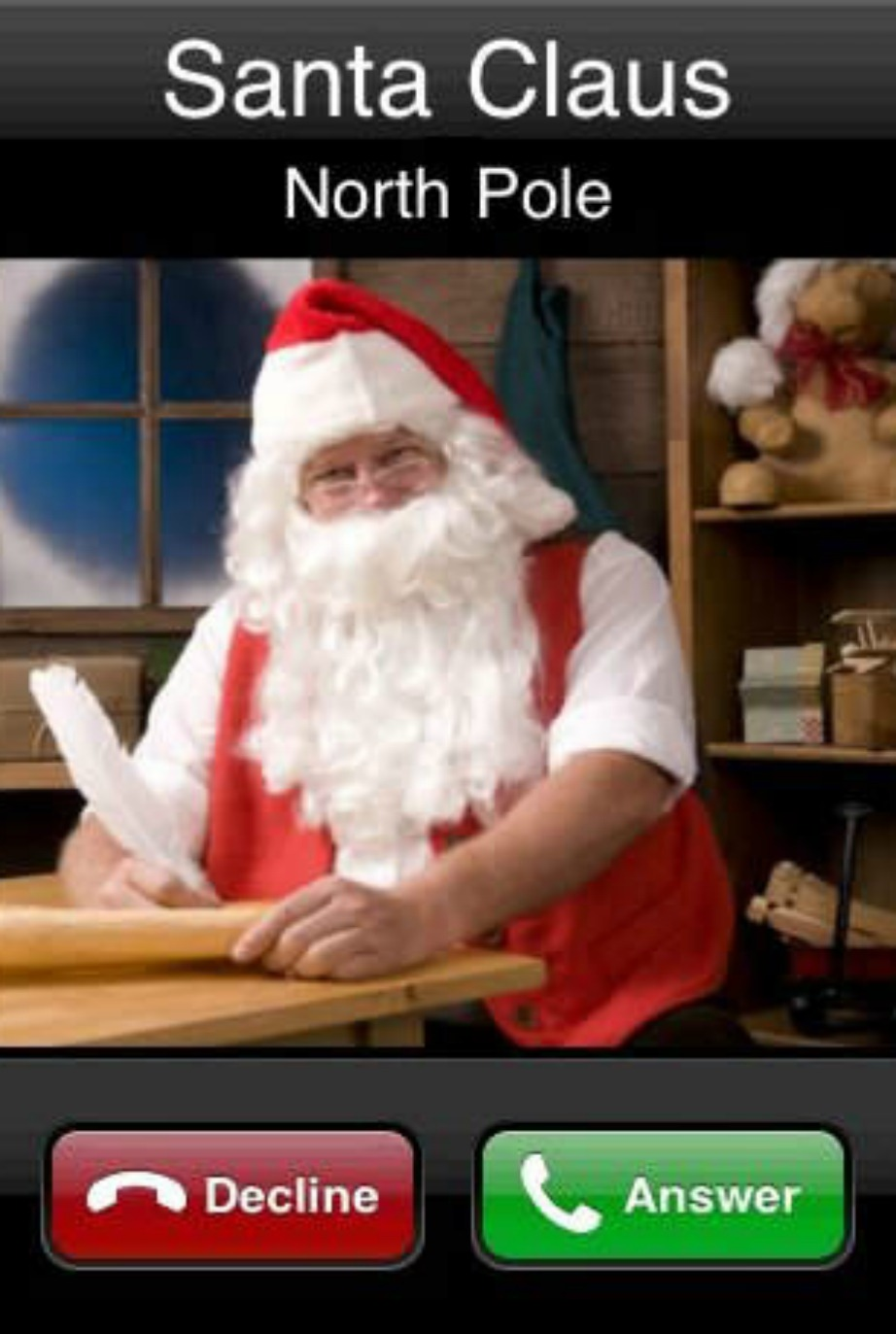 Κατεβάστε την εφαρμογή 'Parents Calling Santa'.