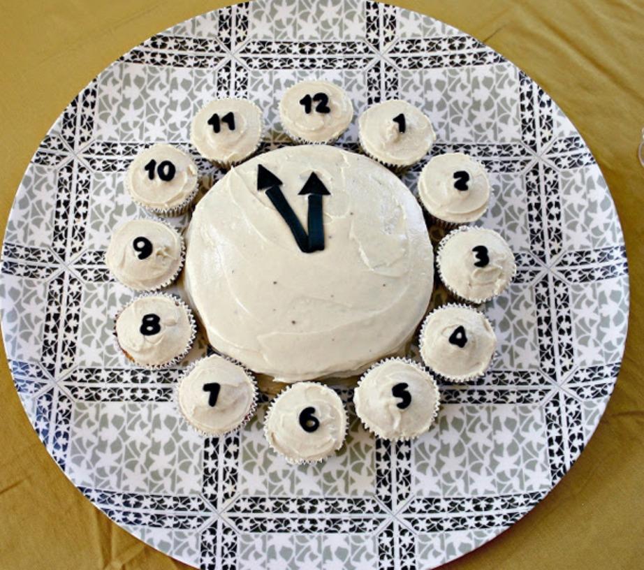 Φτιάξτε μια στρογγυλή βασιλόπιτα και 12 ίδια cupcakes!