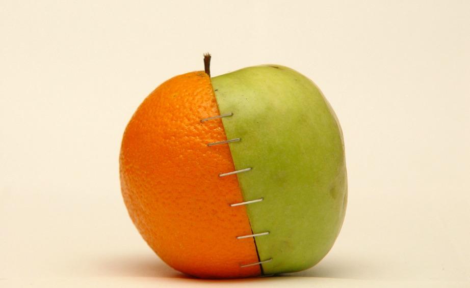 Κόψτε σε φέτες μήλο και πορτοκάλι και προσθέστε τζίντζερ, κανέλα και γαρίφαλο.
