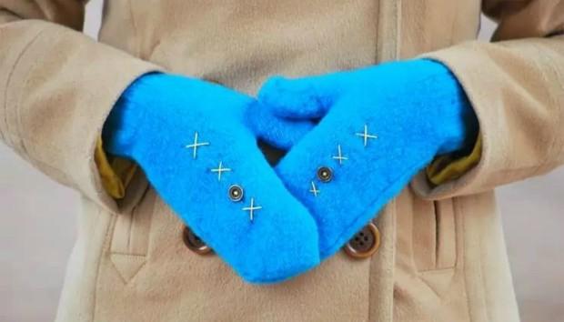 DIY: Πώς να Φτιάξετε Γάντια από Παλιά Πουλόβερ (VIDEO)
