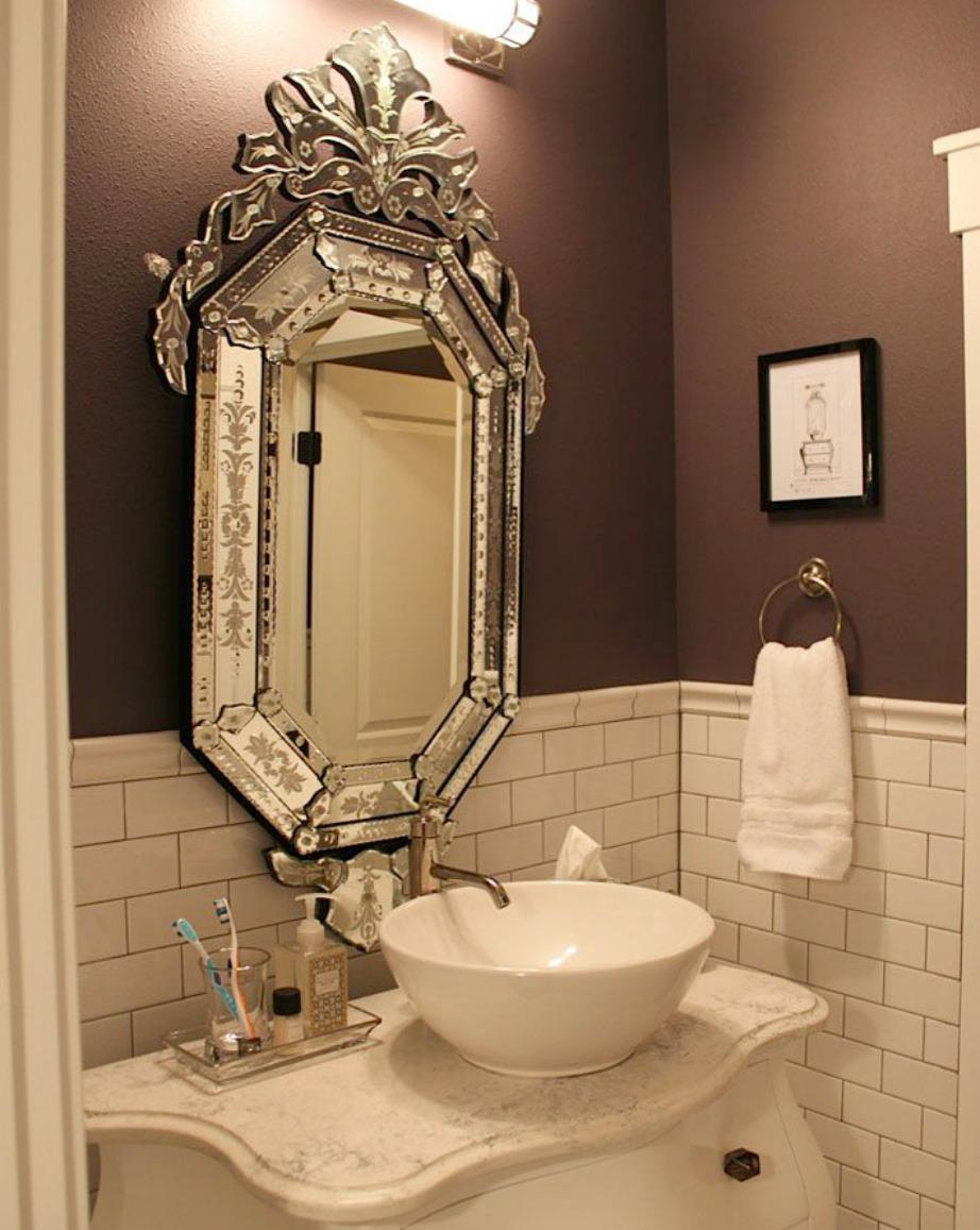 Άλλο ένα χρώμα που δε συναντάμε συχνά αλλά ταιριάζει πολύ σε μπάνια είναι το σοκολατί.