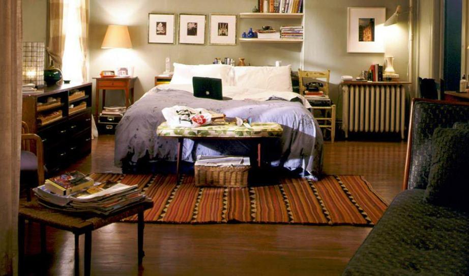 Το υπνοδωμάτιο της Carrie στο Sex & the City.