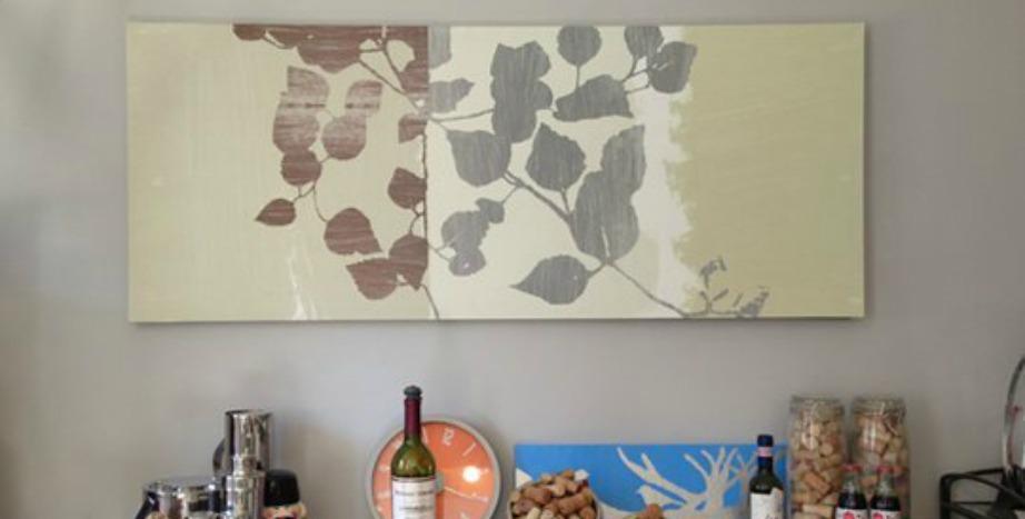 Δείτε πόσο όμορφος δείχνει ο ίδιος τοίχος με την προσθήκη του κάδρου.