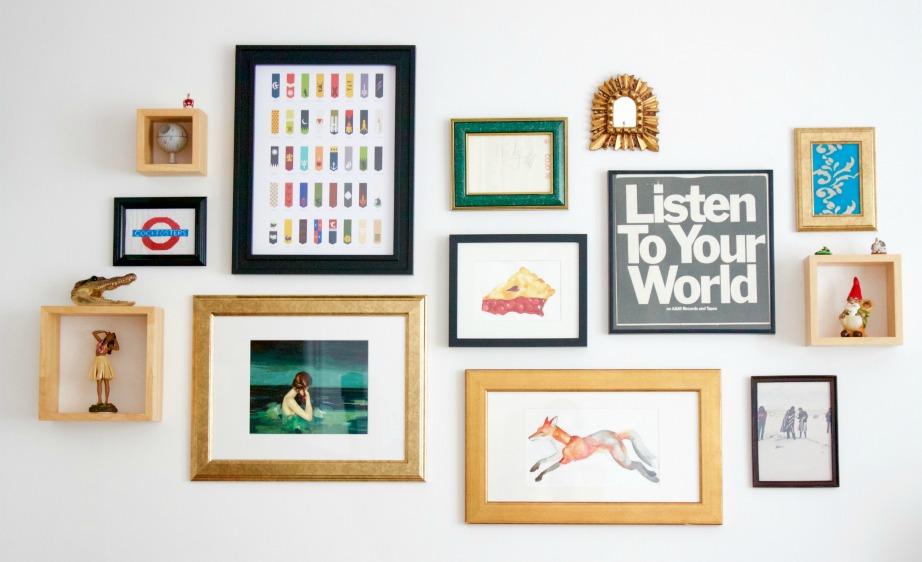 Μια gallery τοίχου είναι επίσης μια ωραία ιδέα.