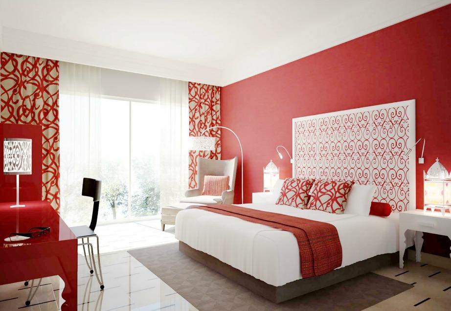 Ένας κόκκινος τοίχος θα κάνει το δωμάτιό σας πιο ατμοσφαιρικό και σέξι.