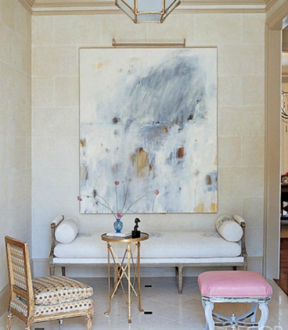 Ένας μεγάλος πίνακας πάντα δίνει στιλ σε έναν χώρο.
