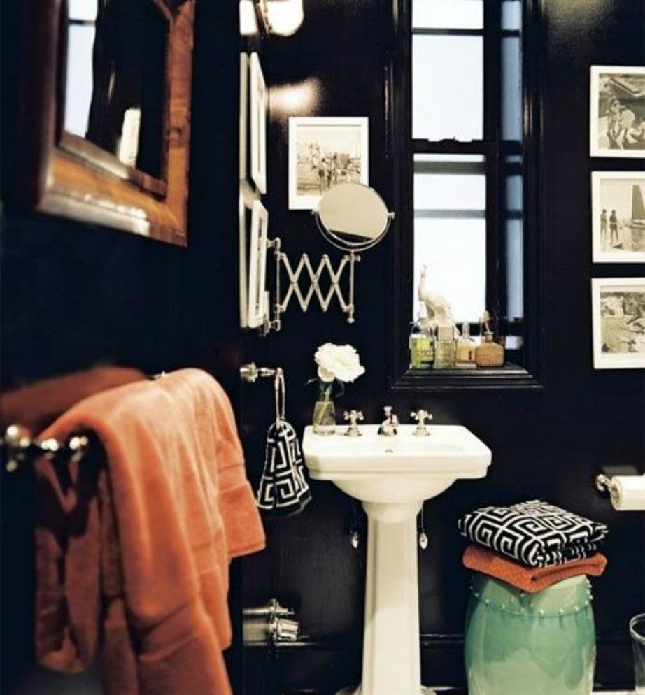 Το μαύρο είναι ένα χρώμα που ταιριάζει πολύ στα αντρικά μπάνια.