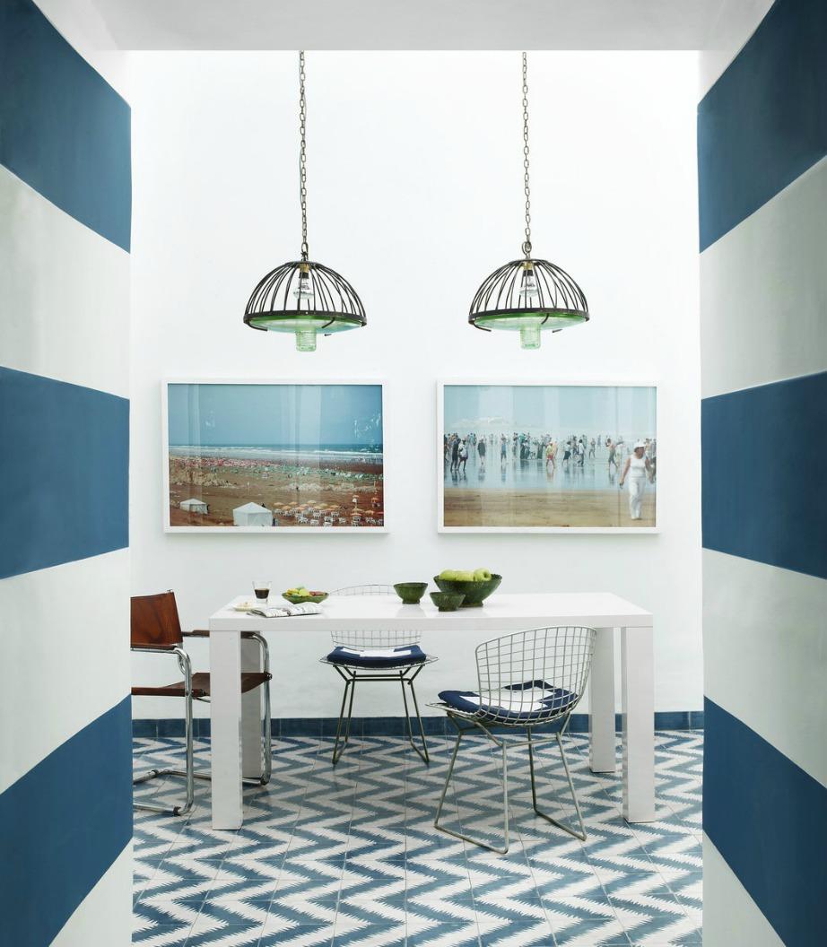 Δείτε πόσο τέλεια δένουν αυτά τα δύο χρώματα στην κουζίνα της παραπάνω εικόνας.