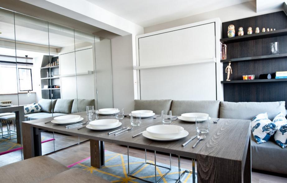 Αυτό το τραπέζι μεγαλώνει και μικραίνει ανάλογα με τις ανάγκες του κάθε σπιτιού.