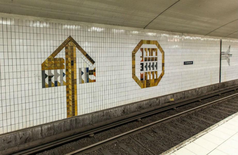 Μια από τις πλατφόρμες στον κεντρικό σταθμό του μετρό.