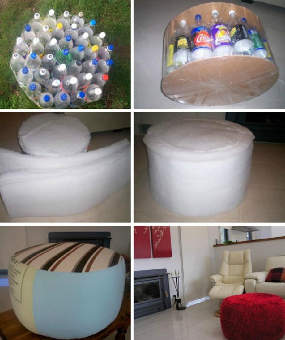 Μέχρι και σκαμπό μπορείτε να φτιάξετε με μερικά μπουκάλια.