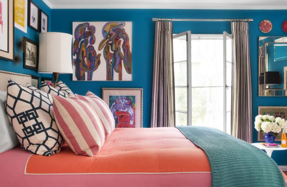 Τα έντονα χρώματα είναι η καλύτερη επιλογή για τα μικρά δωμάτια.