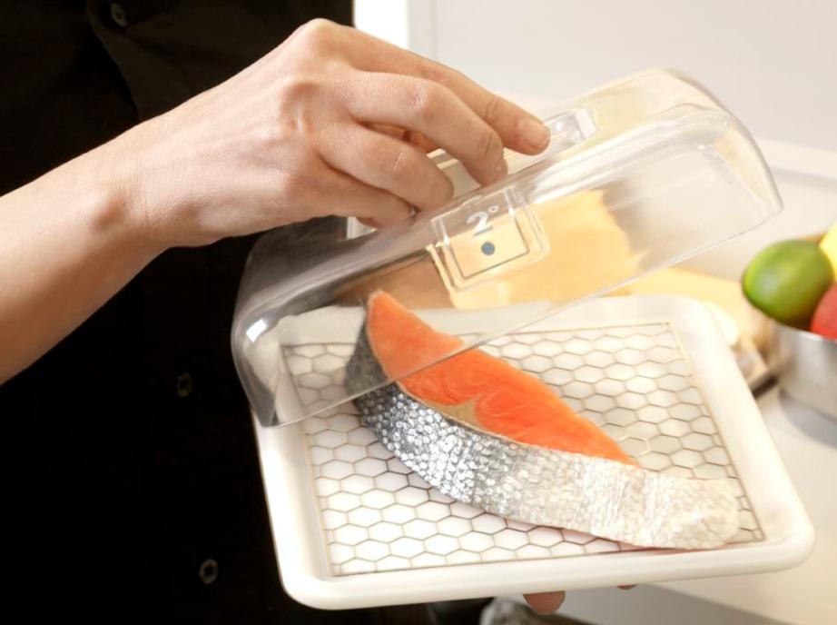 Τα φαγητά που χρειάζονται καλή ψύξη τοποθετούνται μέσα σε πλαστικα΄δοχεία στα οποία υπάρχει η κατάλληλη θερμοκρασία.