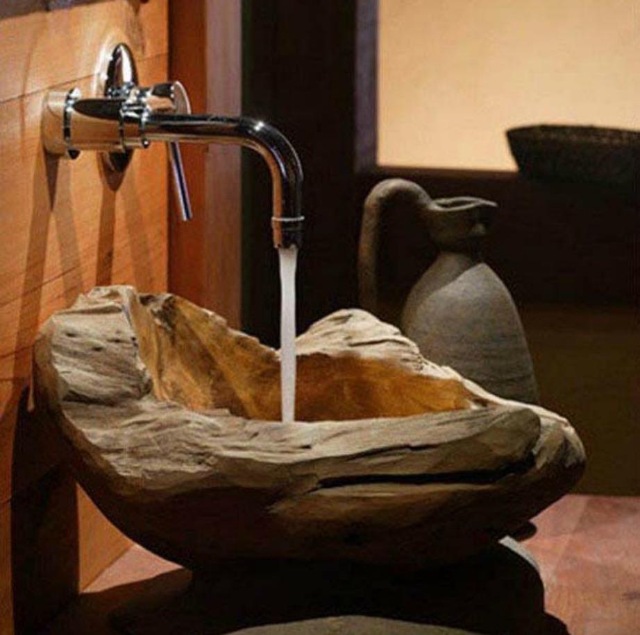 Για ρουστίκ μπάνια αυτός ο νιπτήρας είναι ό,τι πρέπει.