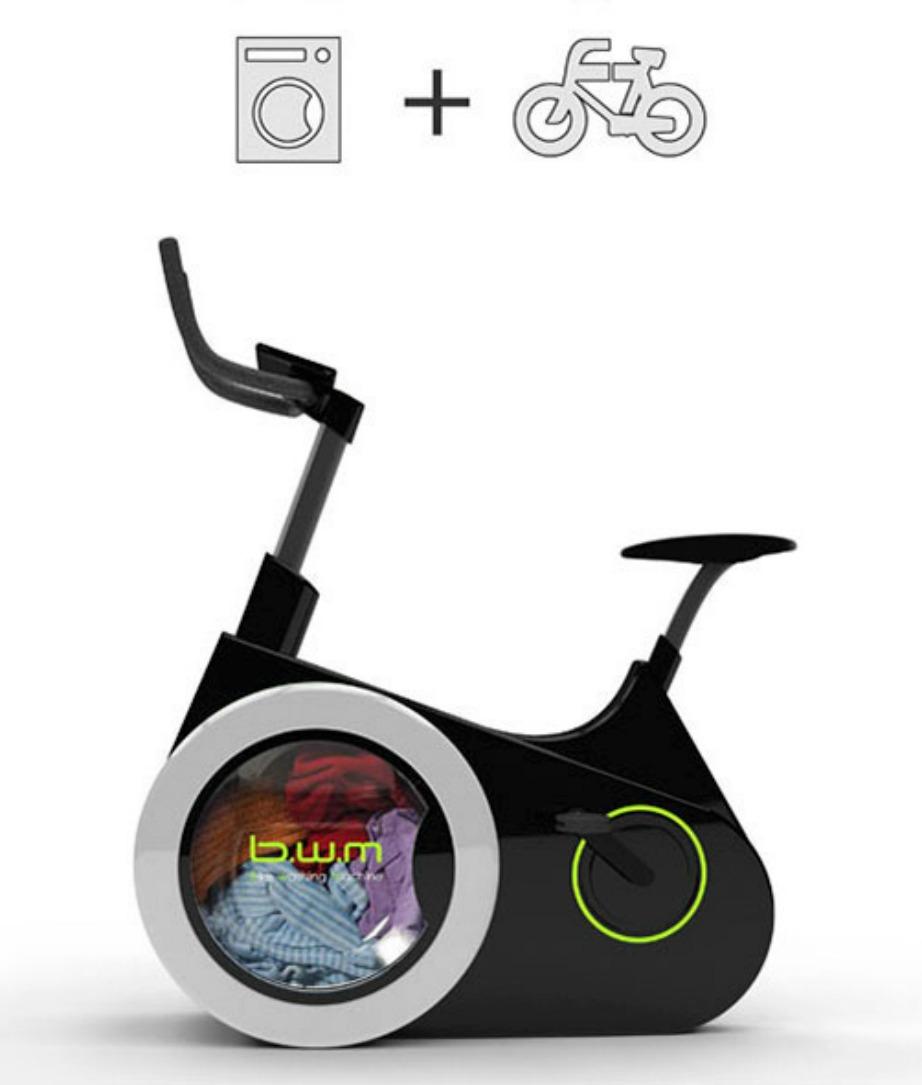 Αυτό το ποδήλατο είναι ταυτόχρονα και πλυντήριο.