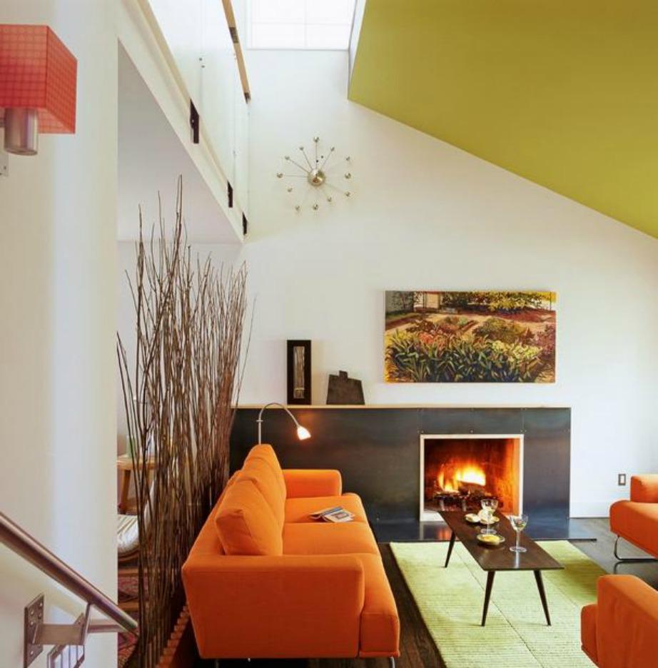 Αν στο ταβάνι σας υπάρχουν διάφορες αρχιτεκτονικές λεπτομέρειες και σχέδια μπορείτε να ακολουθήσετε το σχήμα τους και να βάψετε με διαφορετικές αποχρώσεις.