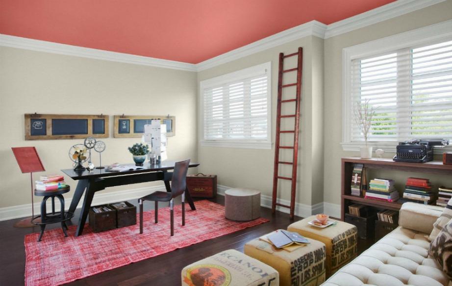 Μην φοβάστε να βάλετε ροζ, ροδακινί ή πορτοκαλί στο ταβάνι σας. Με την κατάλληλη διακόσμηση αυτά τα χρώματα δείχνουν υπέροχα μέσα στο σαλόνι και στην κουζίνα που είναι δύο χώροι που χρειάζονται χρώμα και ένταση.