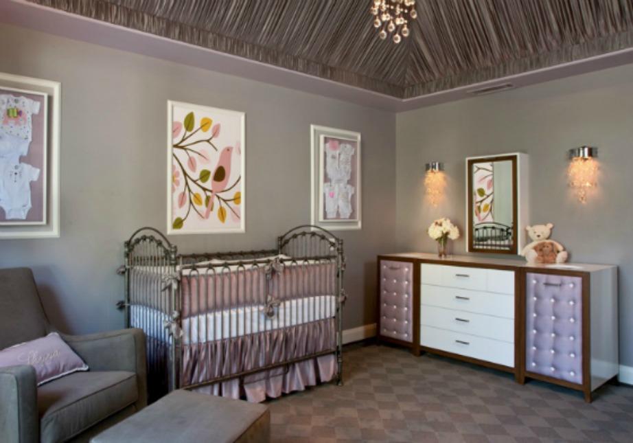 Το μοβ είναι το πιο αριστοκρατικό χρώμα για βρεφικό δωμάτιο.