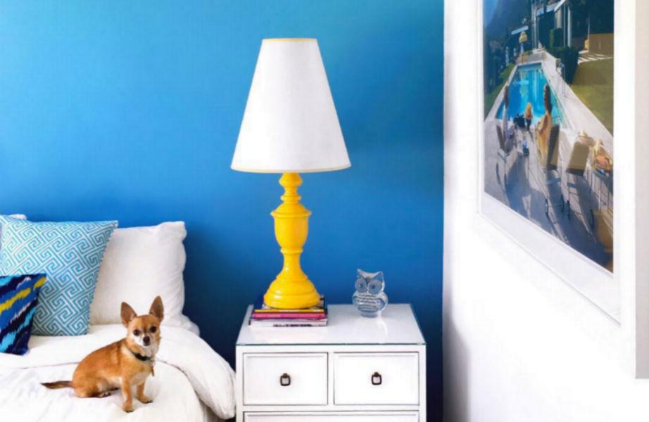 Κίτρινο και στο υπνοδωμάτιο για όνειρα γλυκά.