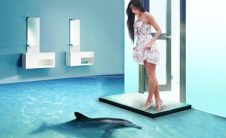 Τα 3D πατώματα ταιριάζουν περισσότερο στο μπάνιο συγκριτικά με άλλους χώρους του σπιτιού.
