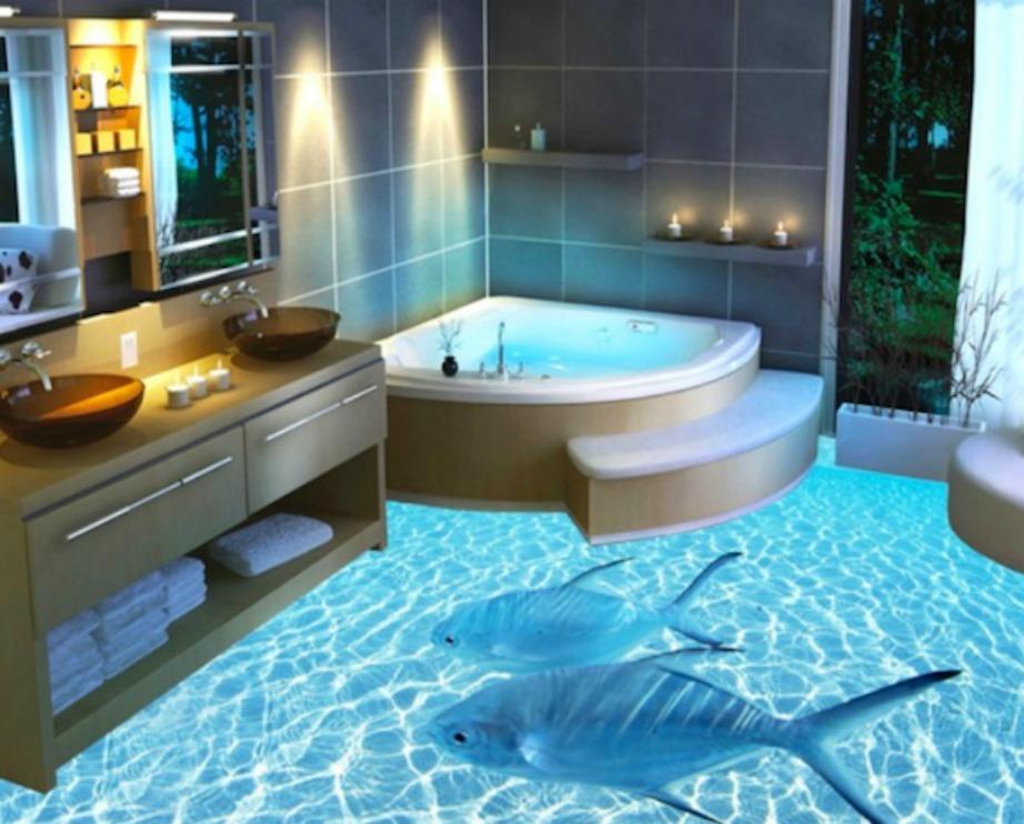 Πόσο πιο χαλαρωτικό θα είναι το μπάνιο σας στη θέα αυτού του 3D πατώματος;