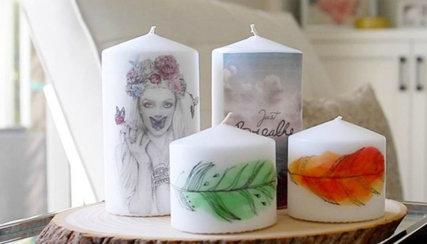 Κάντε τα Λευκά Κεριά σας να Δείχνουν Πανέμορφα με Αυτό το DIY!
