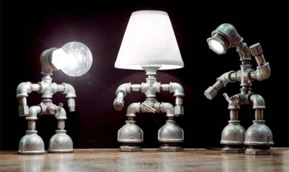 Τι θαλέγατε για αυτά τα χαριτωμένα φωτιστικά-ρομπότ; Ταιριάζουν στο δικό σας σπίτι;