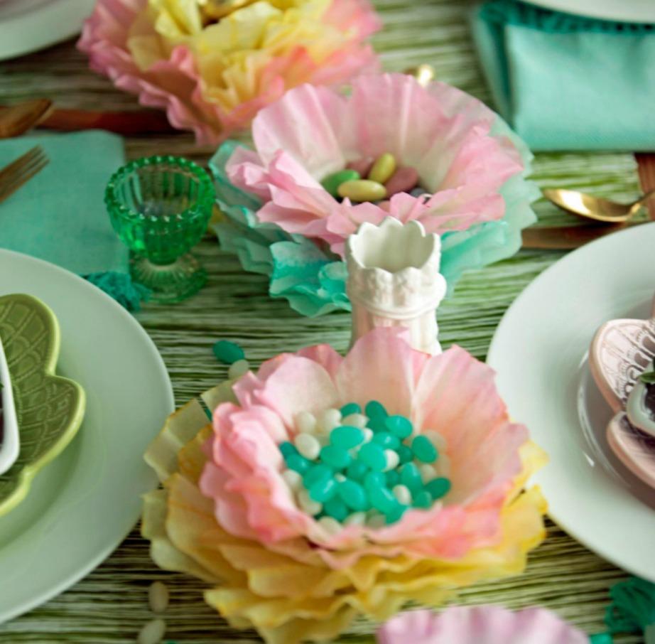 Φτιάξτε αυτά τα όμορφα διακοσμητικά για το πασχαλινό τραπέζι χρησιμοποιώντας φίλτρα γαλλικού καφέ.