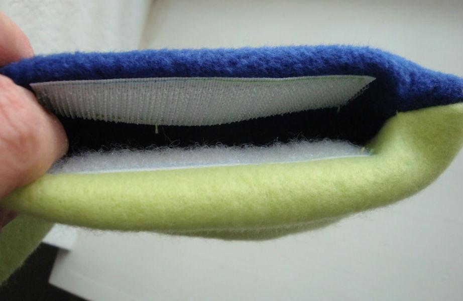 Χρησιμοποιήστε velcro για τις ανοιχτές πλευρές του μαξιλαριού σας!