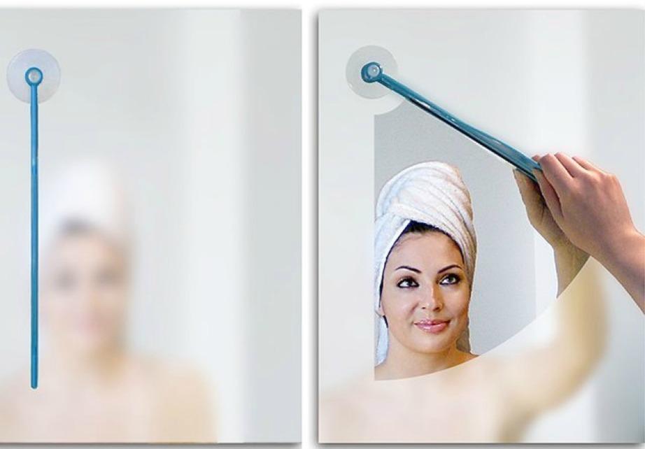 Καθαρίστε τους καθρέφτες του μπάνιου σας με μια κίνηση.