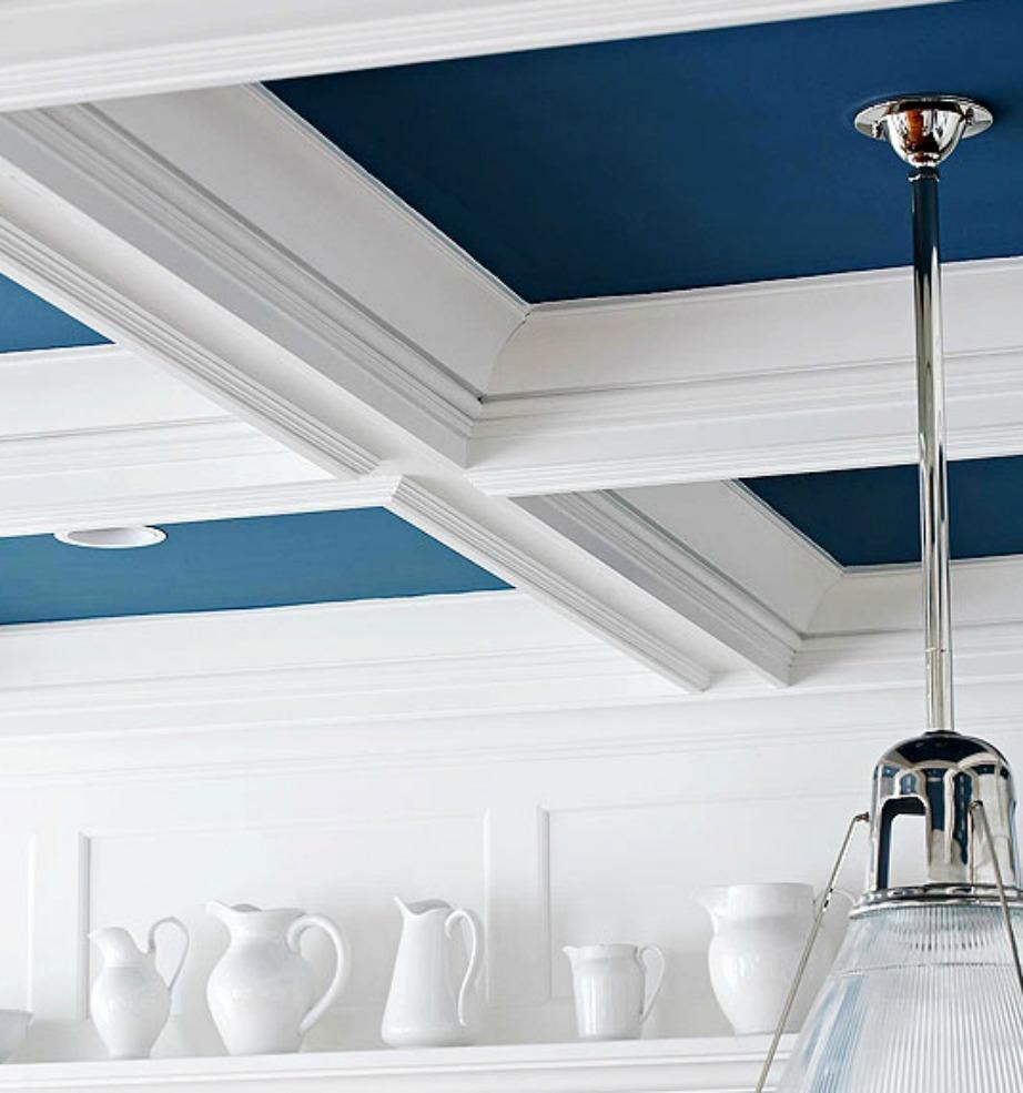 Με λίγο χρώμα στο ταβάνι ο χώρος σας θα ανανεωθεί εύκολα και οικονομικά