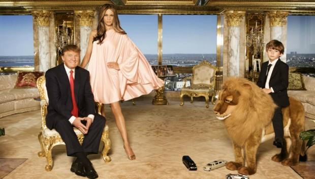 Το Γεμάτο Χρυσό και Ελληνικές Επιρροές Σπίτι του Donald Trump στο Manhattan