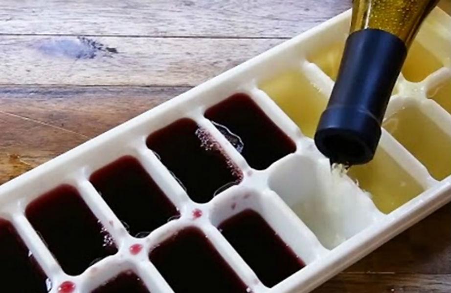 Φτιάξτε παγάκια κρασιού.