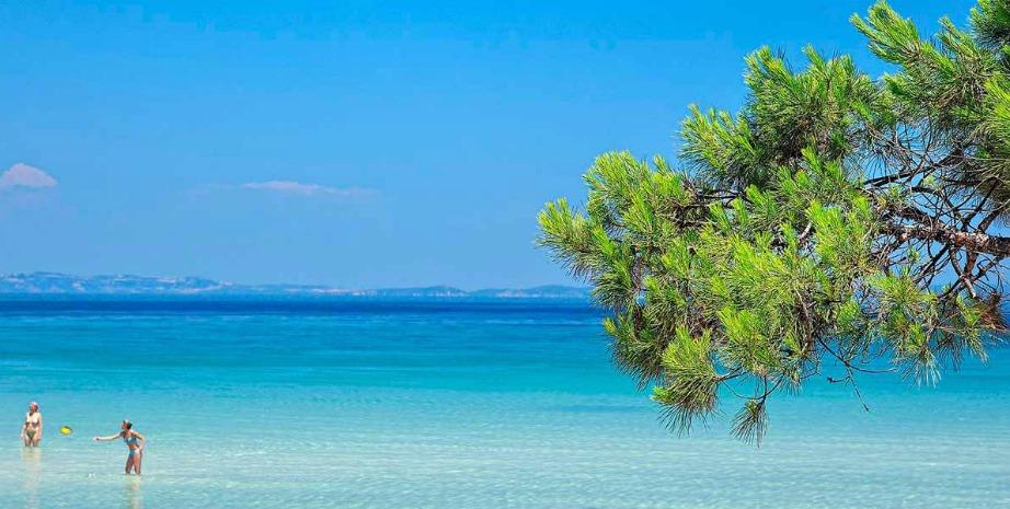 Αυτή η παραλία θα μπορούσε να βρίσκεται και στη Χαβάη. Στην πραγματικότητα βρίσκεται στη Χαλκιδική.