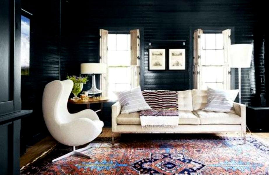 Σκούρο χρώμα σε μικρό δωμάτιο; Τολμήστε το!