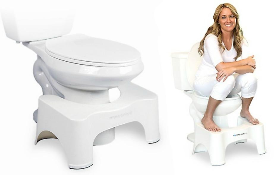 Βάλτε ένα μικρό σκαμπό για να βάζετε τα πόδια σας κάθε φορά που κάθεστε στην τουαλέτα.