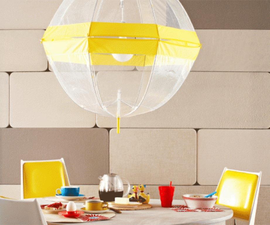 Φτιάξτε το πιο χαρούμενο, ανοιξιάτικο φωτιστικό για την κουζίνα σας.