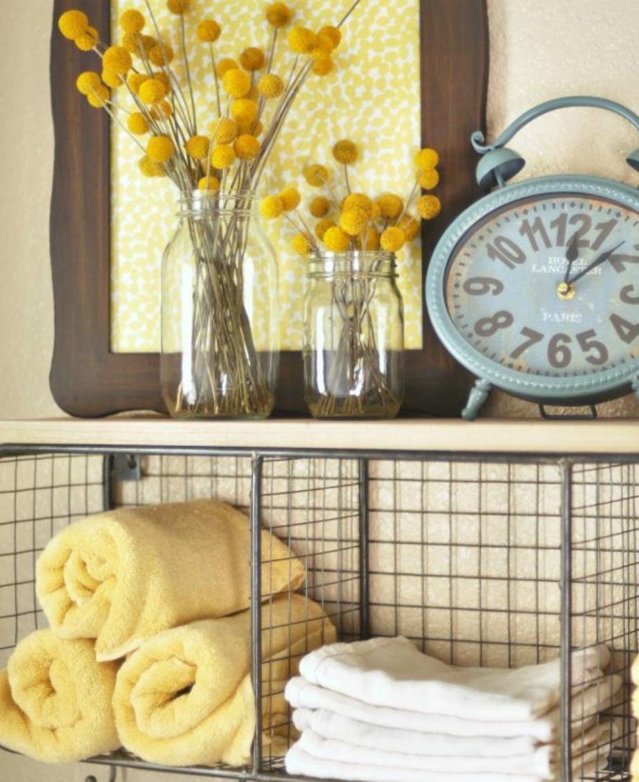 Επιλέξτε πετσέτες σε πιο έντονες αποχρώσεις για το μπάνιο.