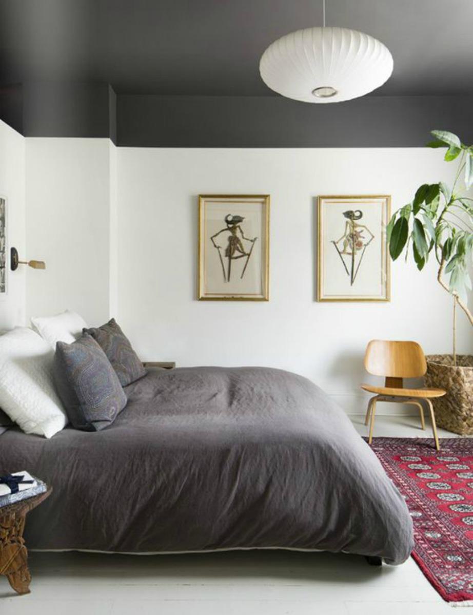 Με χρώμα στο ταβάνι τα πάντα γύρω μοιάζουν διαφορετικά, δίνει στιλ και άποψη στο χώρο.