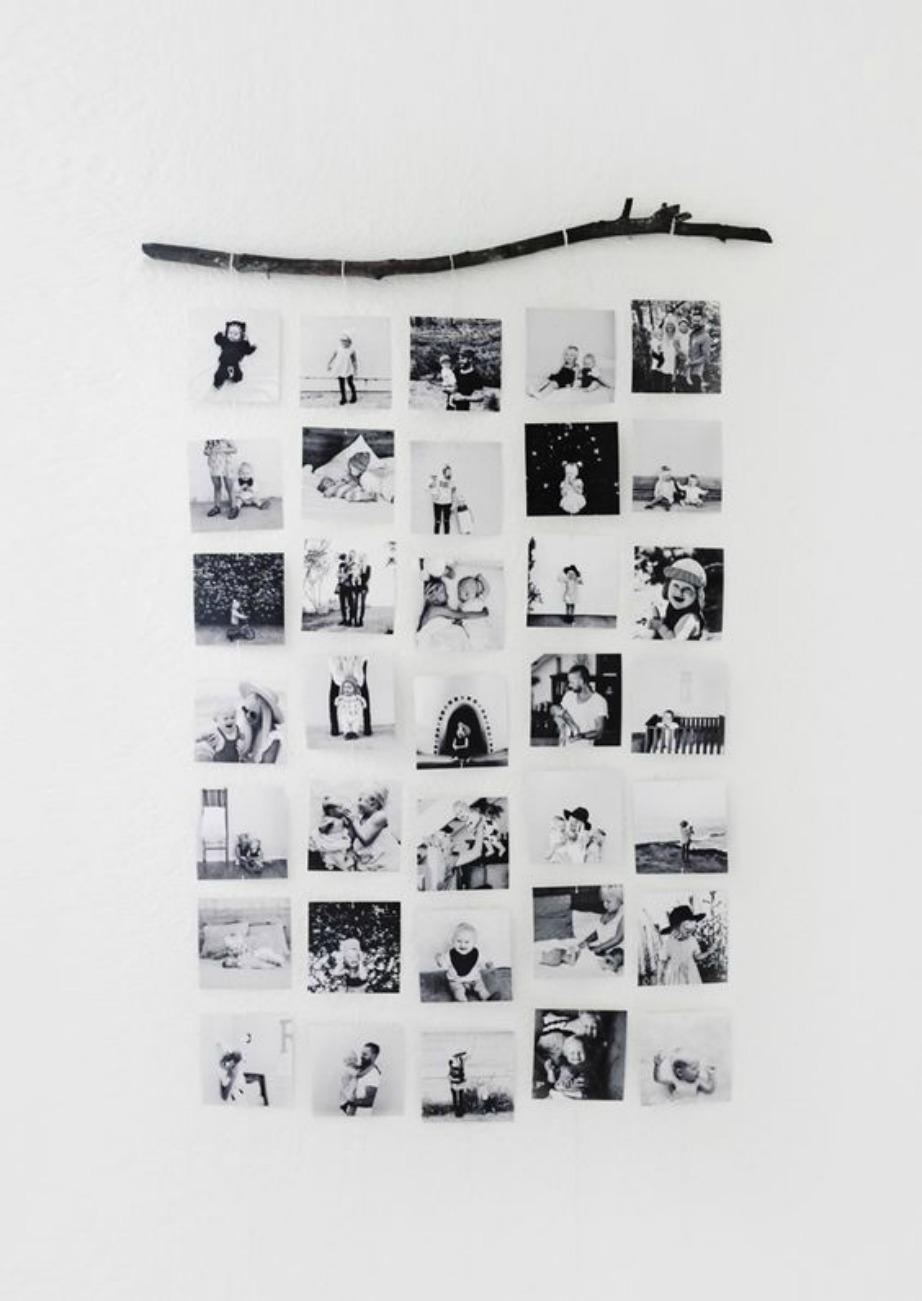 Κρεμάστε τις φωτογραφίες που καθημερινά θέλετε να βλέπετε ενώ για περισσότερο στιλ επιλέξτε να τις τυπώσετε σε ασπρόμαυρη μορφή.