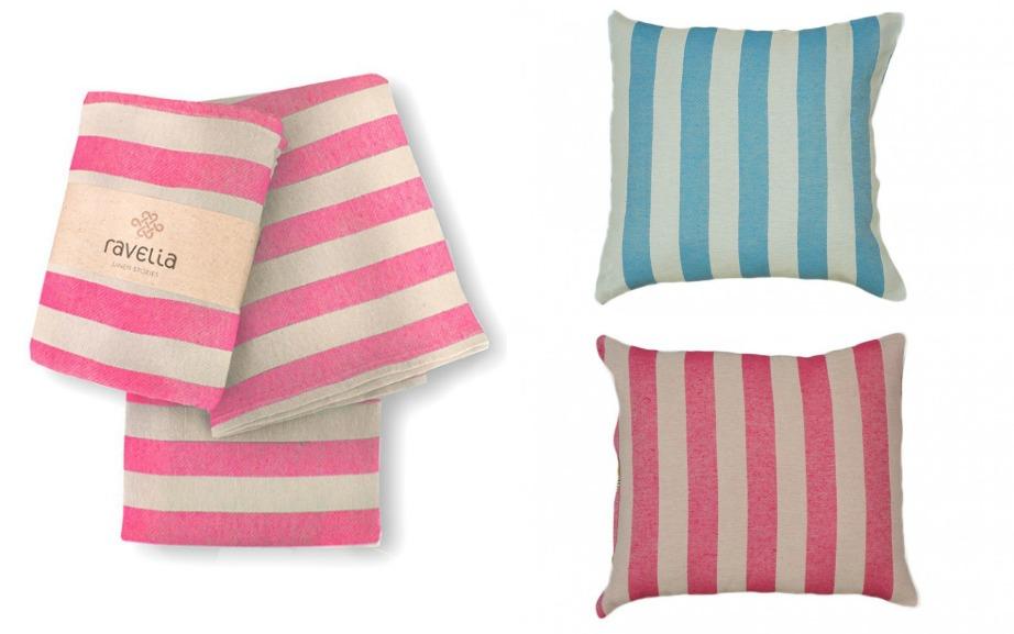 Βάλτε τις ρίγες του ριχταριού και των μαξιλαριών κάθετες μεταξύ τους.