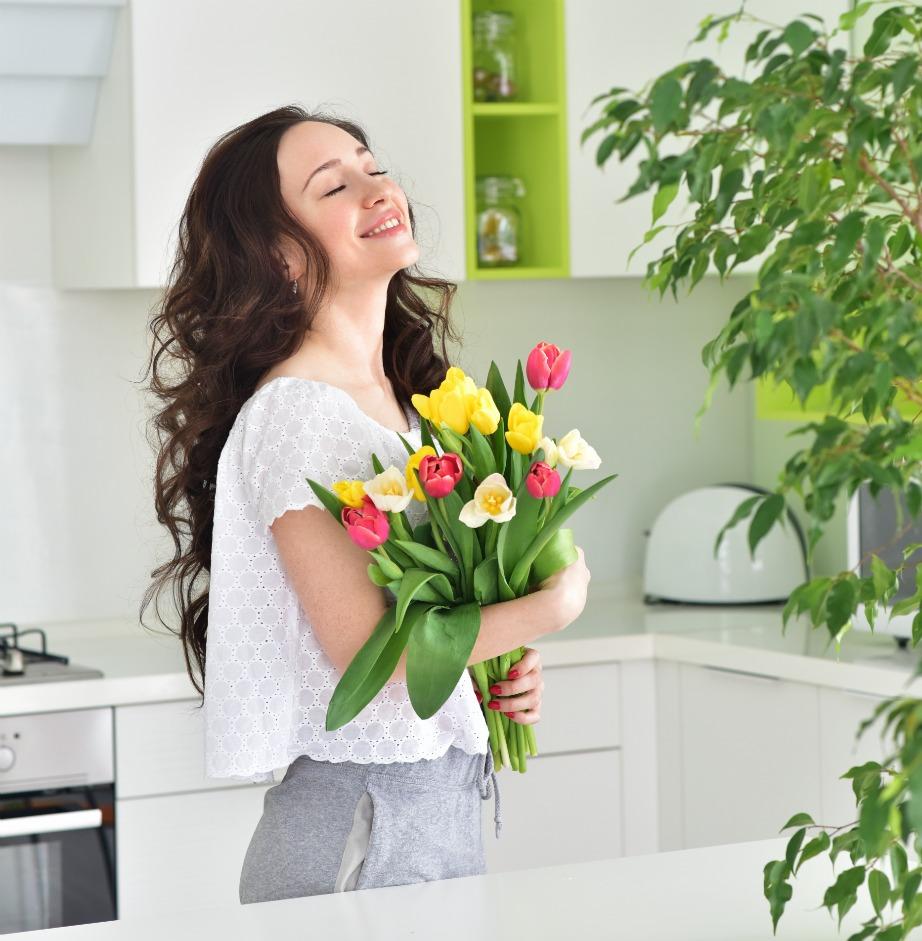 Τα φρέσκα λουλούδια δίνουν ζωή σε ένα σπίτι!