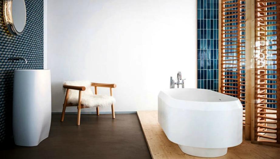 To ξύλο και η πέτρα είναι έξυπνος συνδυασμός κατάλληλος για κάθε μπάνιο.